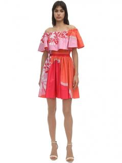 Emilio Pucci Tiered Off-Shoulder Mini Dress
