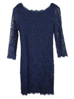 Diane von Furstenberg Zarita navy lace dress