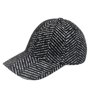 Burberry Wool & Silk Herringbone Cap