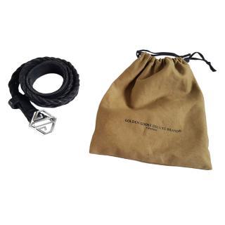 Golden Goose Leather Plaited Belt
