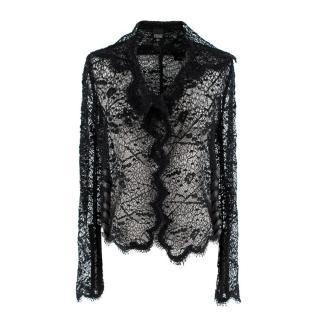 Gianfranco Ferre Eyelash Lace Sheer Jacket