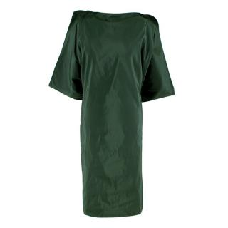 Bottega Veneta Emerald Green Silk Open Back Dress