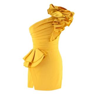DSquared2 Lemon Yellow Colby 'Little Cocktail Dress' - Worn on BGT