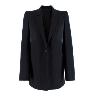 Givenchy Silk Paneled Longline Tailored Jacket