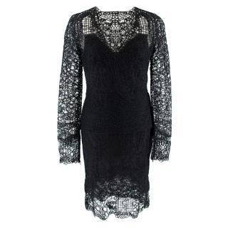 Tom Ford Black Crochet Top & Skirt