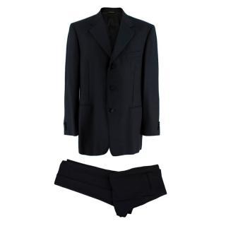 Lanvin Black Virgin Wool Single Breasted Two-Piece Suit