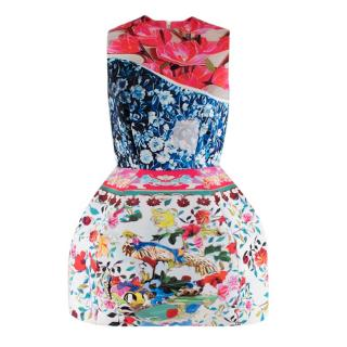 Mary Katrantzou for Topshop Floral Print Structured Dress