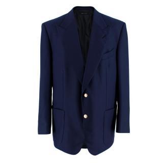 Tom Ford Men's Navy Textured Blazer Jacket
