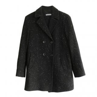 Jil Sander cashmere blend speckle pea coat
