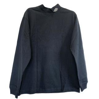 Dior x Air Dior turtle-neck navy cotton long-sleeve top