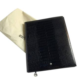 Montblanc Meisterstuck croc-embossed leather notebook