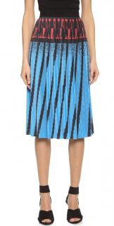 Alexander Wang blue pleated A-line skirt