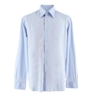 Valentino Light Blue Men's Embroidered Classic Shirt