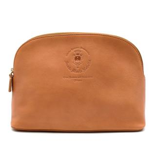 Santa Maria Novella Tan Leather Wash Bag