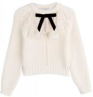 Philosophy di Lorenzo Serafini lace ruffle bow detail jumper