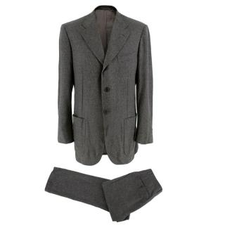 Corneliani Men's Grey Virgin Wool Single Breasted Suit