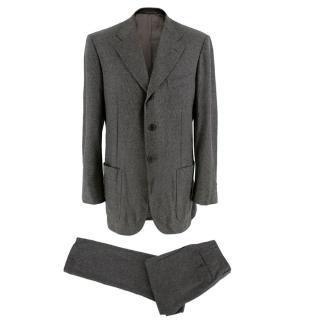 Corneliani Men's Grey Virgin Wool Single Breasted Suit