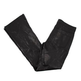 Amanda Wakeley London Black Leather Trousers