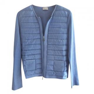 Moncler blue long sleeve puffer jacket
