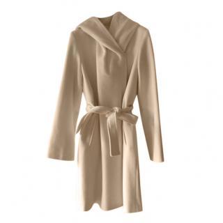 MaxMara white wool & angora coat