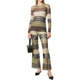 Missoni multicoloured sequin embellished striped sweater