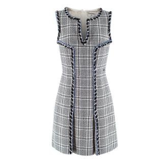 Chanel Tweed Trimmed Embroidered Sleeveless Dress