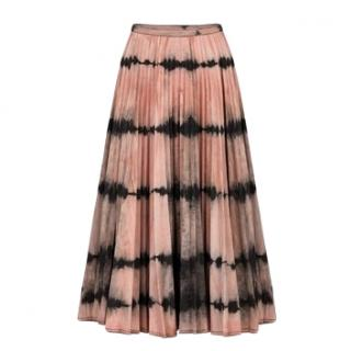 Christian Dior pink tie and dye pleated midi skirt