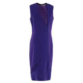 Victoria Beckham Electric Blue A-Line Sleeveless Dress