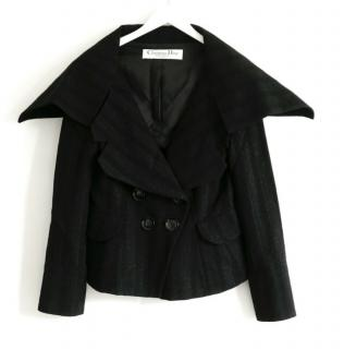 Christian Dior by John Galliano black double breasted wool jacket