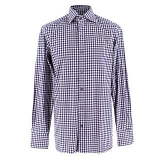Tom Ford Navy & White Gingham Shirt