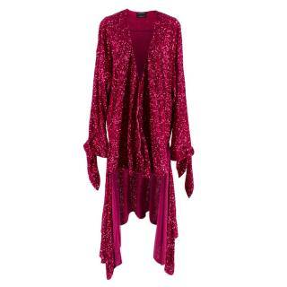 Attico for Luisaviaroma Sequin Pink Cardigan