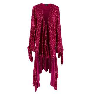 Attico for Luisaviaroma Sequin Pink Cardigan