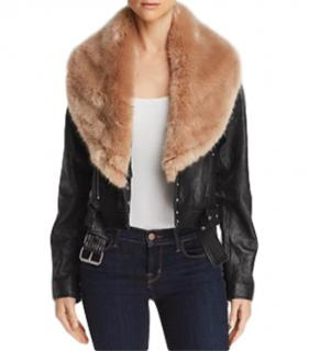 Paige Leather Jacket with Removeable Faux Fur Collar