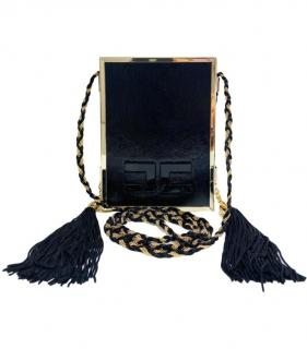 Elisabeta Franchi black & gold patent leather box bag