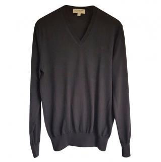 Burberry black merino wool jumper