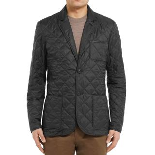 Dunhill navy quilted jacket