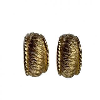 Christian Dior Vintage GP Filigree Earrings