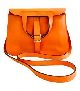 Hermes Hazlan Mini 22 orange leather crossbody bag