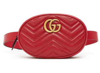 Gucci Red Marmont Belt Bag