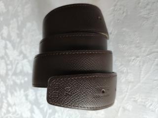 Hermes cuir seul brown leather belt strap