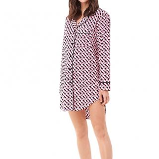 DVf x Cosabella Pyjama Shirt Dress