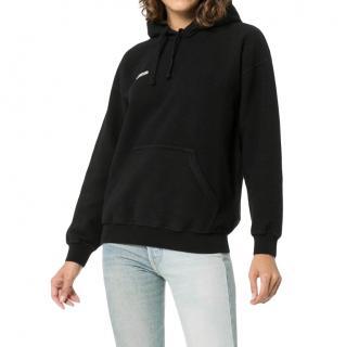 Vetements black inside out hoodie hooded jumper