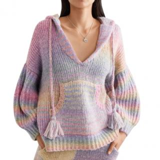 LoveShackFancy Remington Rainbow Wool Blend Hoodie