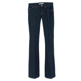 Victoria Beckham Flared High-Waisted Dark Denim Jeans