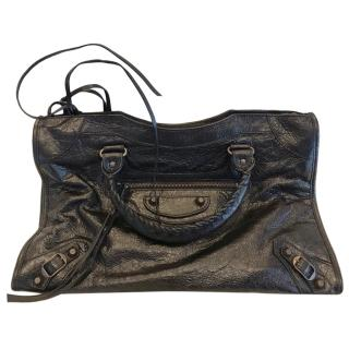 Balenciaga City black medium lambskin shoulder bag