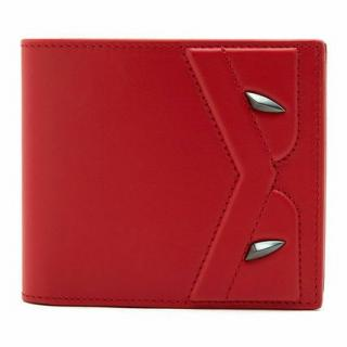 Fendi red leather monster eyes wallet
