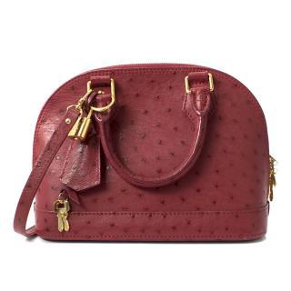 Louis Vuitton Japiur Ostrich Alma BB Tote Bag