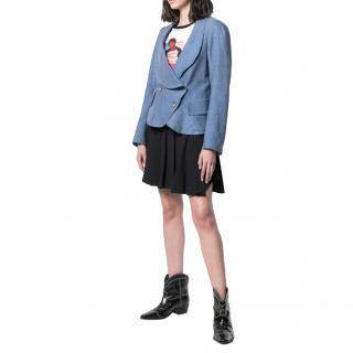 Vivienne Westwood Anglomania Blue Peplum Asymmetric Jacket