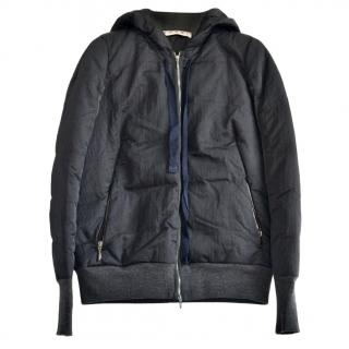 Marni Charcoal Hooded Quilted Jacket