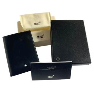Montblanc black leather passport holder